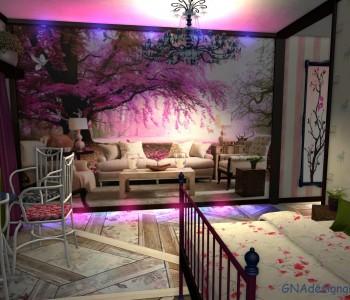 桜 або Сакура в дизайні інтер'єру
