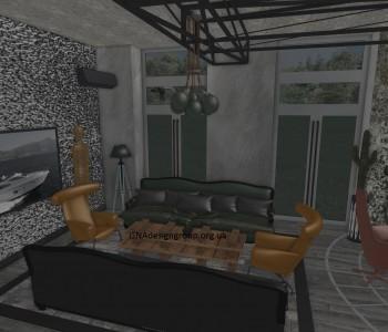 Лофт у вітальні Будинку - начерки
