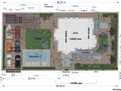 Планировка и зонирование участка, визуализация