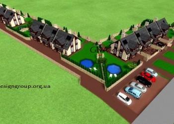 Инвестиционный проект - Таунхаусы на 4 семьи, Таунхаусы на 3 семьи