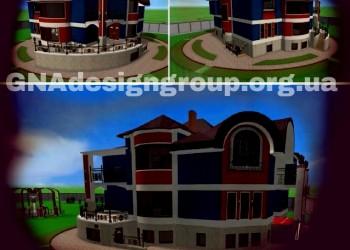 Визуализация вариантов фасада