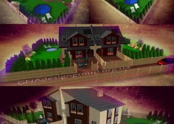 Дуплекс двухэтажный - проекты домов на две семьи